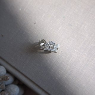 Silver Princess Crown Lace Ring
