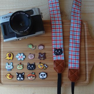 HiDots together to travel the camera strap (cotton Plaid * Cat)