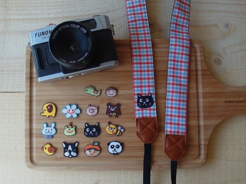 HiDots一起去旅行相機背帶(棉麻格紋*貓咪)