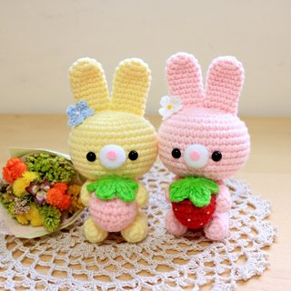 Strawberry bunny. Charm. gift
