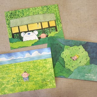 綠悠悠夏日時光 Postcard Set of 3 Illustration by Bigsoil