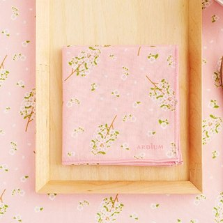 ARDIUM cotton handkerchief - pink cherry blossoms