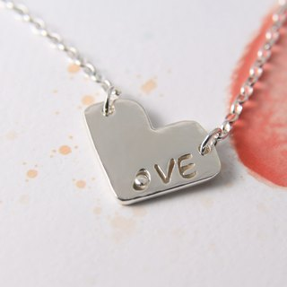 Sterling Silver Necklace / LOVE Letters