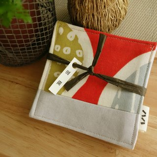 Kyoto fabric coasters group (four in) - Pastoral
