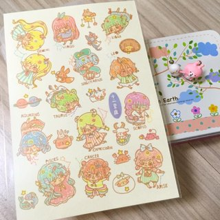 12 constellations - and paper sticker