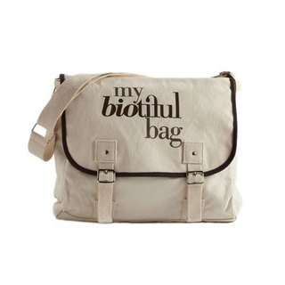 法國my biotiful bag有機棉Messenger Bag-Brown