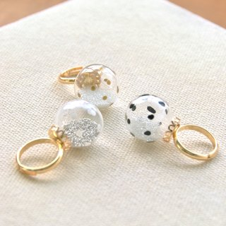 BOLLA - Polka dot bubble ring