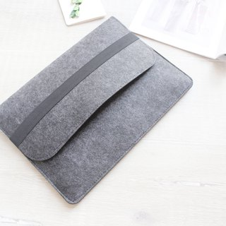 "Original handmade light gray blankets Apple computer protective sleeve blankets sets of laptop bags 12-inch computer bag Macbook 12 ""(can be tailored) - ZMY006LG12A"