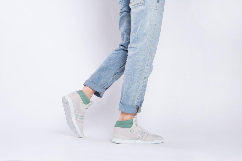 寶特瓶製休閒鞋  CEVENNES 高筒    果綠色    男生款