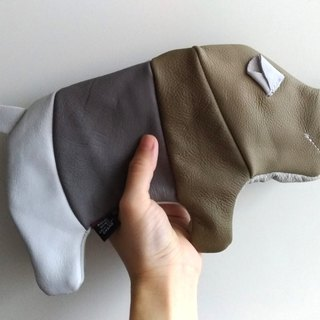 +zoom- leather rhinoceros styling pencil case (storage bag) - color matching
