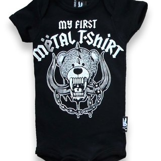 My first piece of rock T-shirt MY FIRST METAL SHIRT - baby clothing bag fart