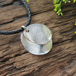 ReShi / fingerprint double wave pendant / 925 sterling silver / fingerprint silver / custom handmade custom / lover family gifts