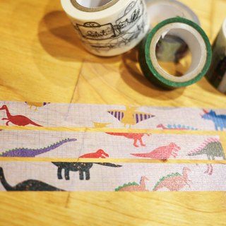 Terribly cute paper tape Masking Tape ★ ☆ ★ ★ ☆ ★ fashion dinosaur