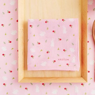 ARDIUM cotton handkerchief - Rose Bunny