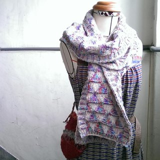 Lan wool scarves (purple blue)