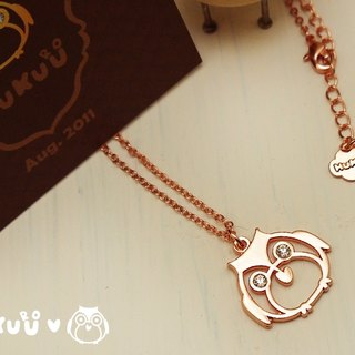 "§ HUKUROU§ Jewelry ‧ Grocery § ""Owl Guardian"" necklace 3 color"