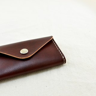 """MY HAND'S Leather Craft"" - Card Holder - Handmade Leather - Handmade - Brown"