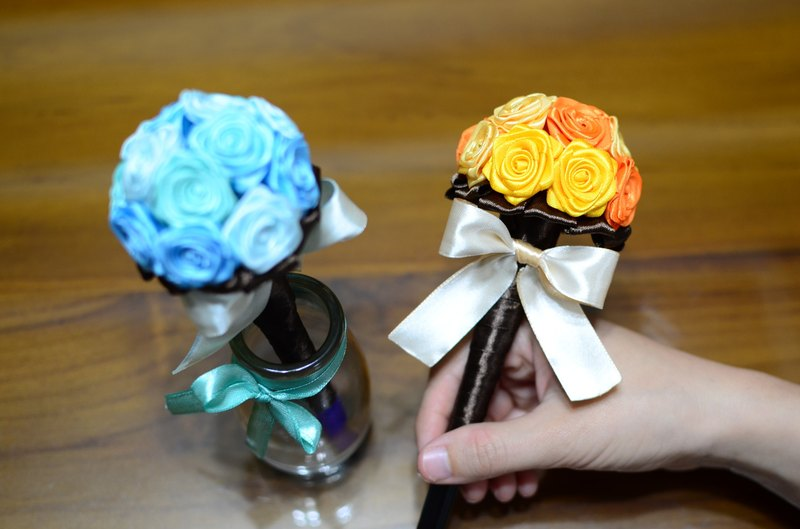 CAmelliaT Camellia cat*bouquet signature pen [classic bouquet of customized models]*was * sisters small wedding ceremony