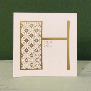 Bronzing letter card envelope sticker group -H