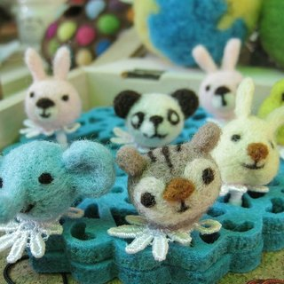 [Wool Needle Felt] Small Zoo Tour ~ (headphone hole dust plug)