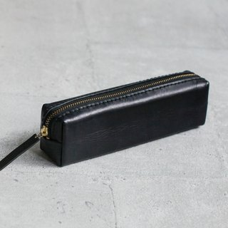 Black classy Leather Pencil Case/Pen Pouch
