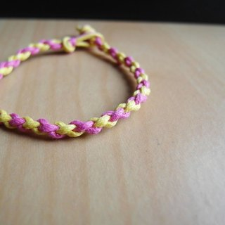 Round roll / hand-woven bracelet