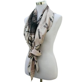 Human washer square silk scarf