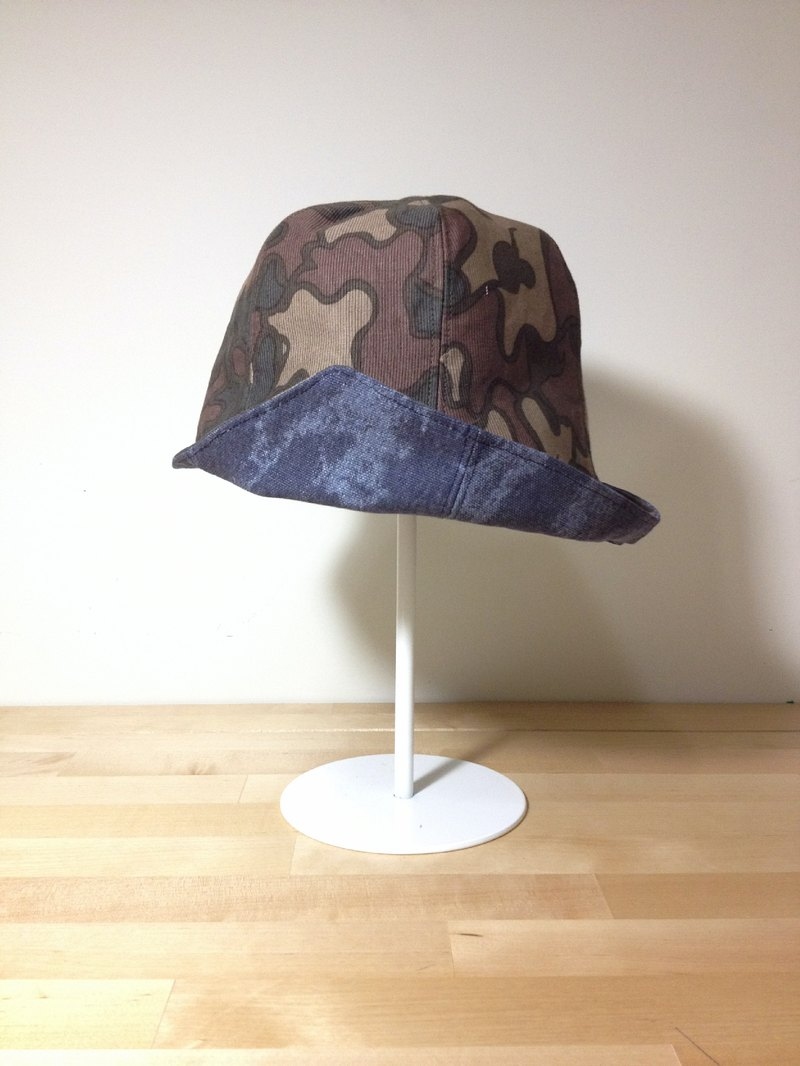 [Cicada handmade cloth X] sided wearing camouflage hat without limits