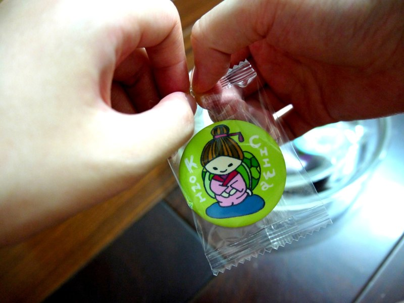 [Turtles come to life series] Green * 抠niji digging candy badges & mini cards