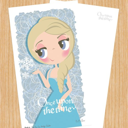 Sell ​​heads Princess Series postcard - Frozen Snow Queen