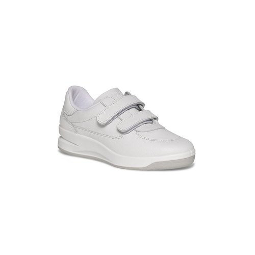 French original TBS leather casual shoes cushion Biblio White (female)