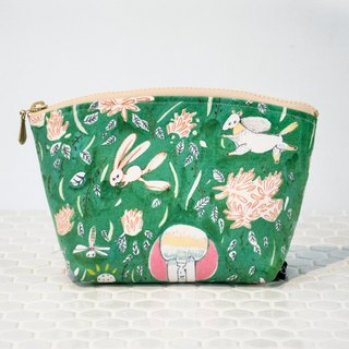 [Illustration] hide and seek admission package / cosmetic bag. New with cloth texture plus!