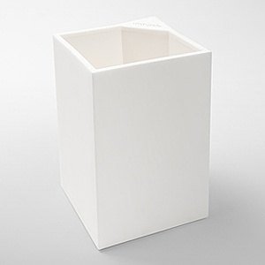Hardened pencil holder - white