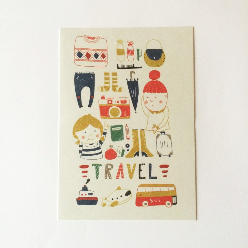 We travel it postcard