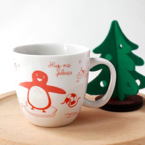 U-PICK original product life New Year series of ceramic cup gift red / green mug cup Creative