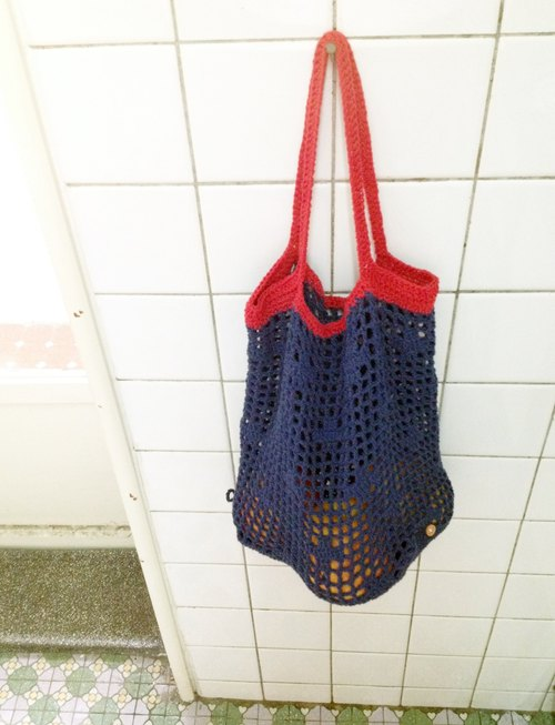 Grocery wind net bag (Navy blue)