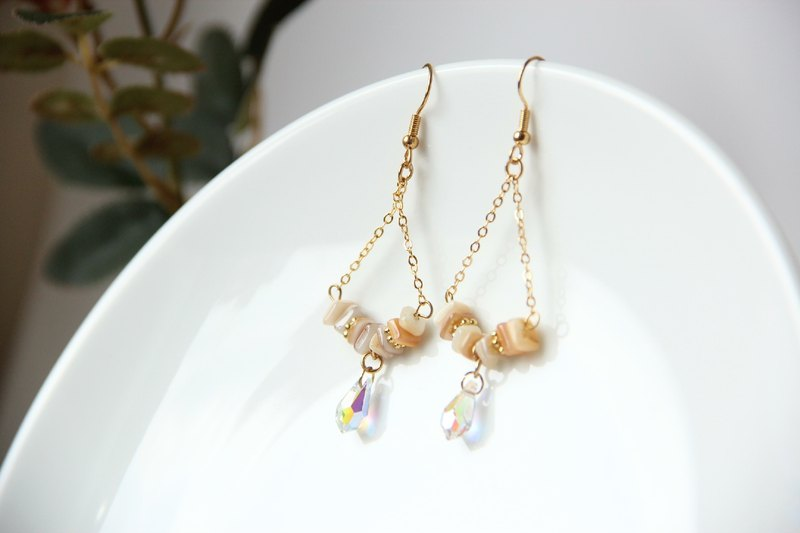 Aqua Series / Boracay Crystal Bottle - Earrings