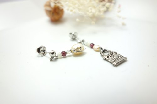 ◎ girl earrings treasure chest