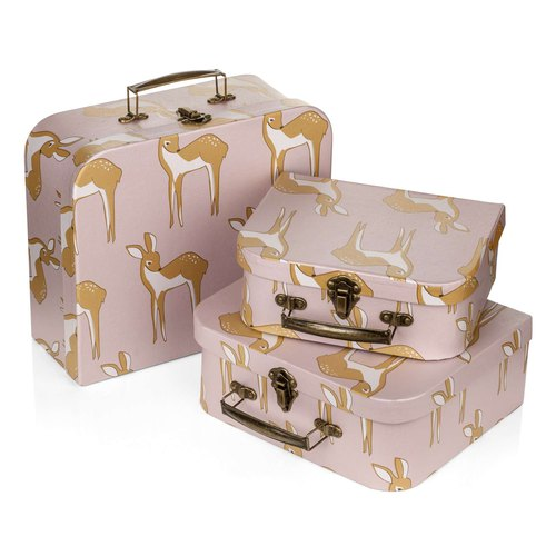MILKBARN Suitcase Set 旅行箱三件組 四種花色