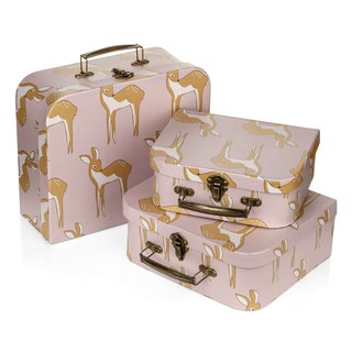 MILKBARN Suitcase Set Suitcase three groups of four colors