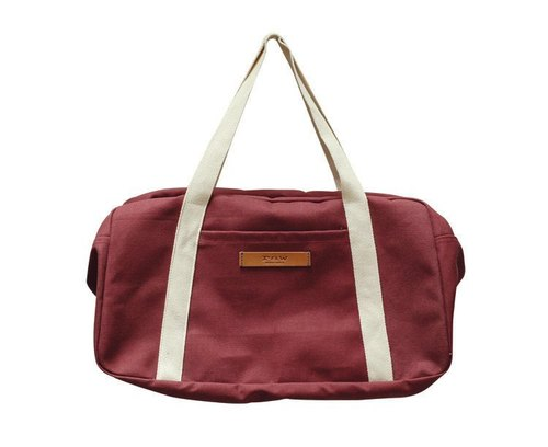Ananda light travel bag / Boston bag [jujube thick canvas]