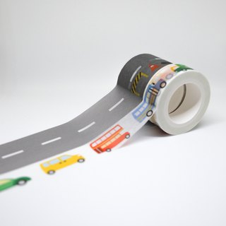 Road series masking tape combo pack: road + cars