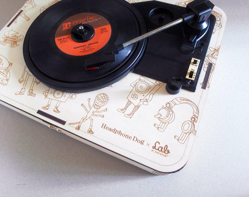 手工原木黑膠播放器 LP唱機 HeadphoneDog X LAB by Dimension+