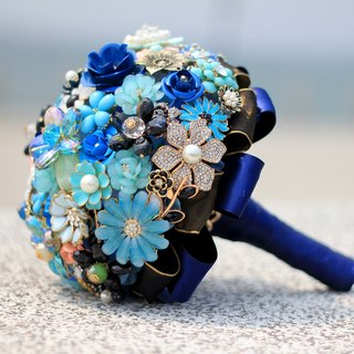 Bouquet jewelry [full] jewelry crystal flower series / dark blue