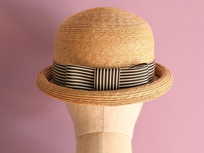 3463d06c18004a Straw Bowler Hat for summer