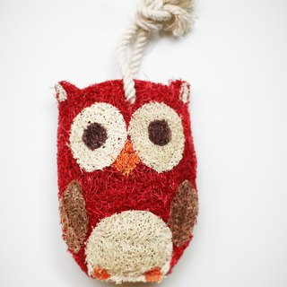 LoofahArt Red Owl