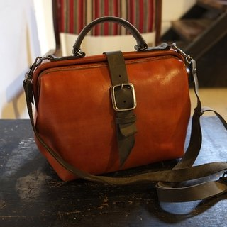 Lovey Leather Accessories / Vintage Camera doctor bag 27 cm Basic - hand-dyed vegetable tanned leather