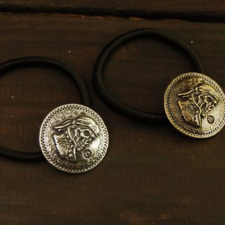 Skull Of Pirate Coin Hair Tie Hair Accessories skeleton pirate bracelet