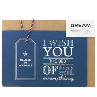 Japan [LABCLIP] Good luck card good luck card series blessing / Dream Blue
