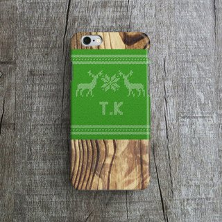 Personalized, Xmas Woody Wooly, - Designer iPhone Case. Pattern iPhone Case.
